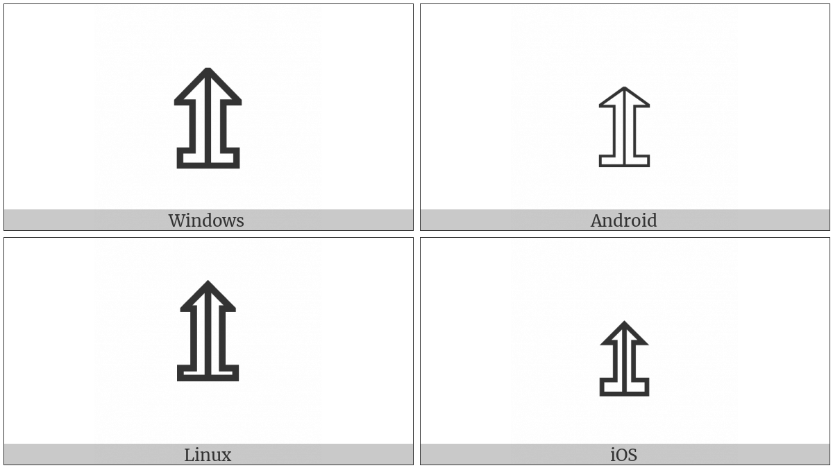 Upwards White Arrow On Pedestal With Vertical Bar on various operating systems