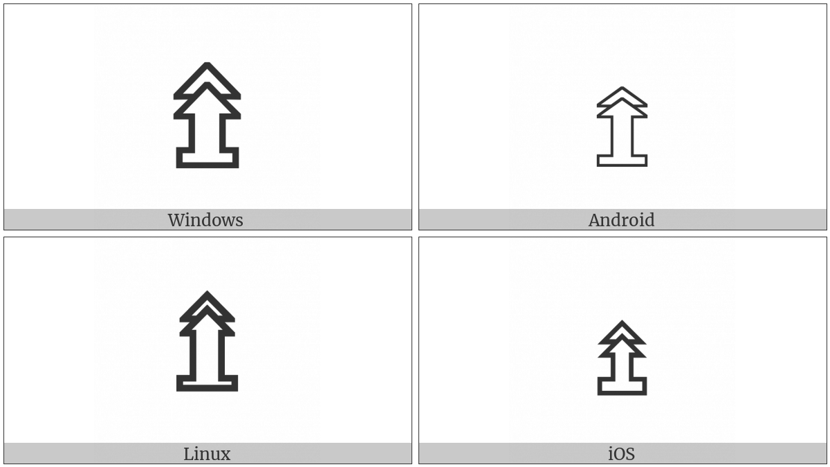 Upwards White Double Arrow On Pedestal on various operating systems