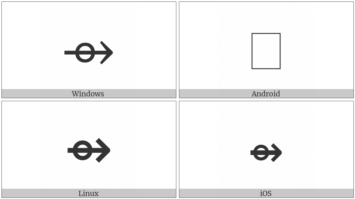 Right Arrow With Small Circle on various operating systems