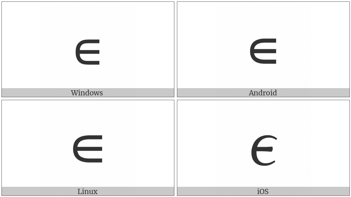 Small Element Of on various operating systems