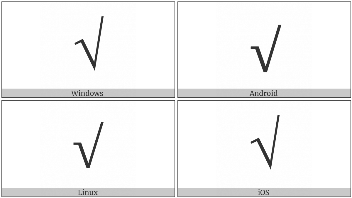 Square Root on various operating systems