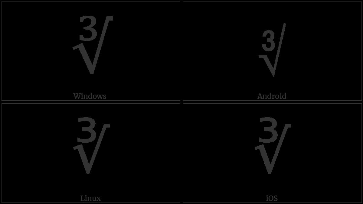 Cube Root Utf 8 Icons