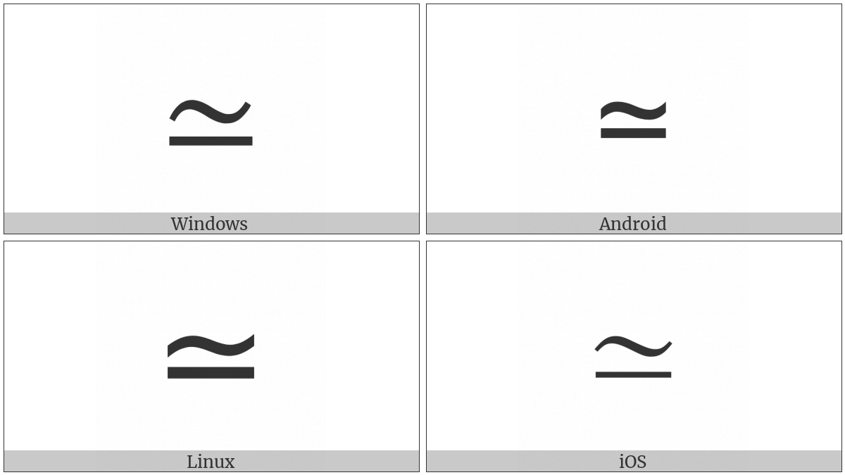 Asymptotically Equal To on various operating systems