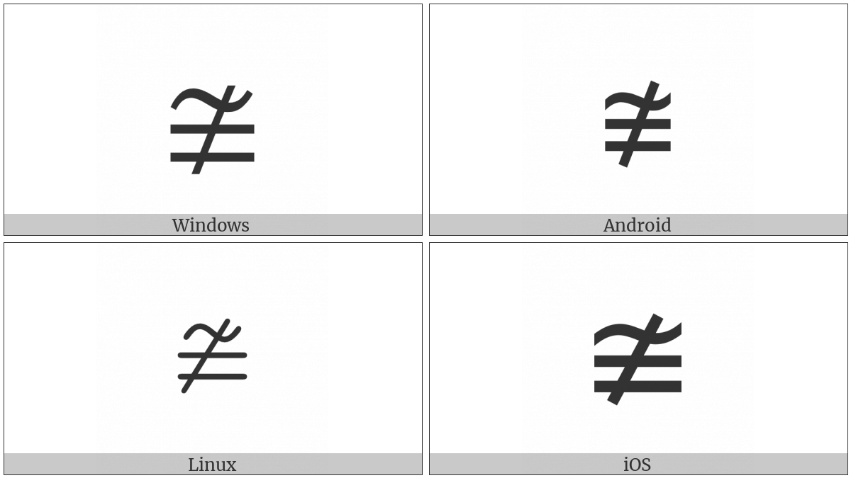 Neither Approximately Nor Actually Equal To Utf 8 Icons