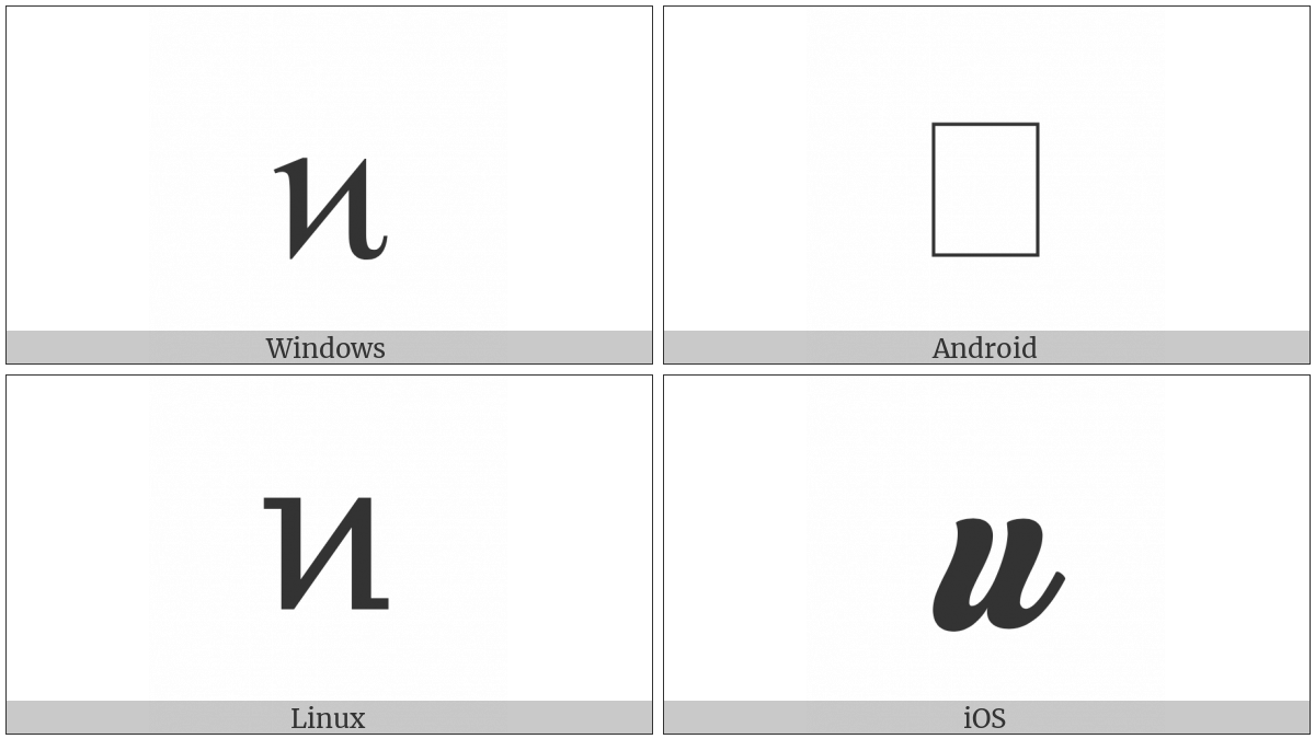 Greek Small Letter Pamphylian Digamma on various operating systems