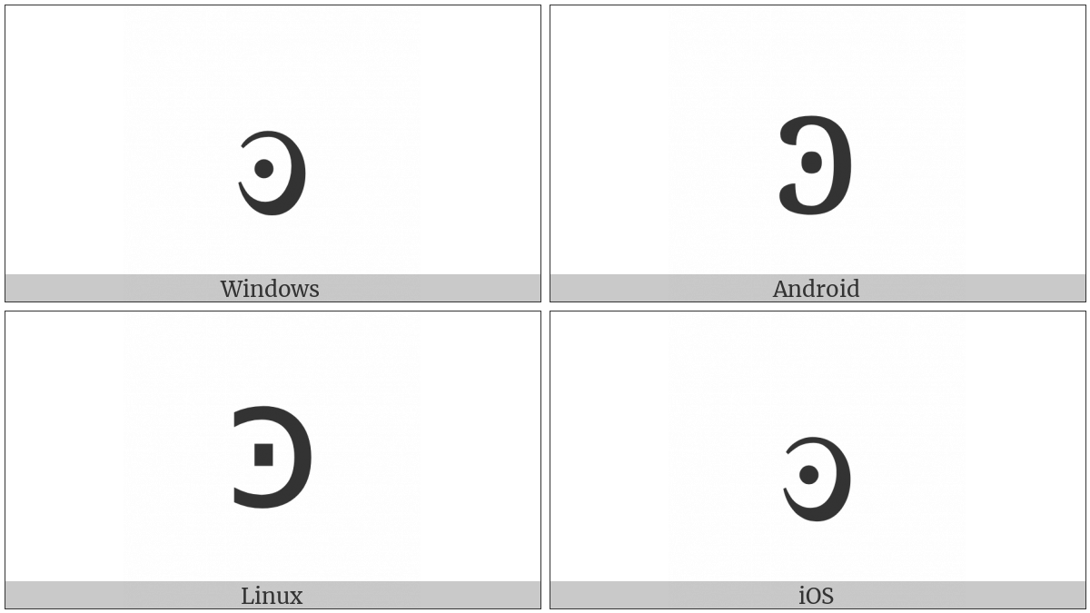 Greek Small Reversed Dotted Lunate Sigma Symbol on various operating systems