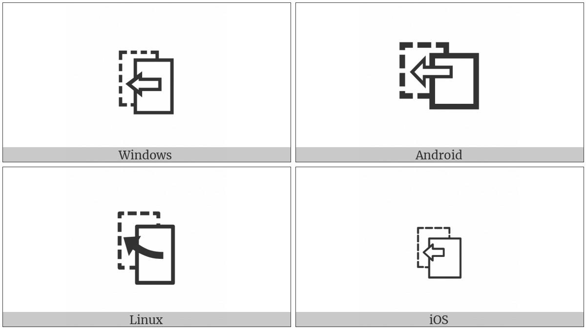 Previous Page on various operating systems