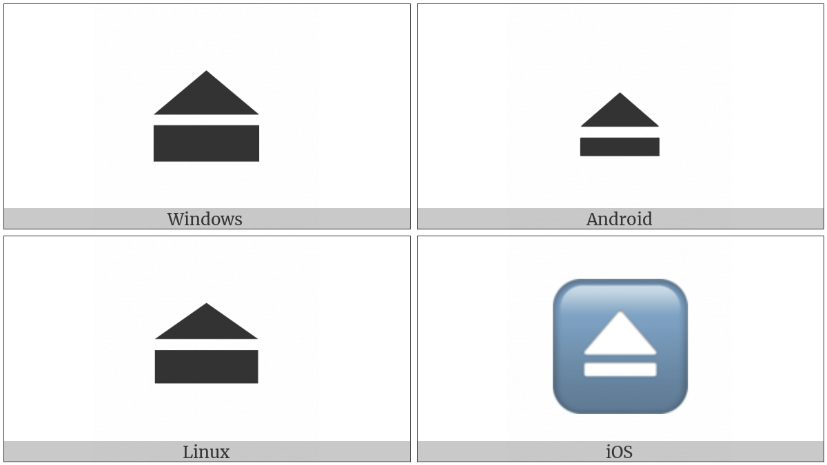 Eject Symbol on various operating systems