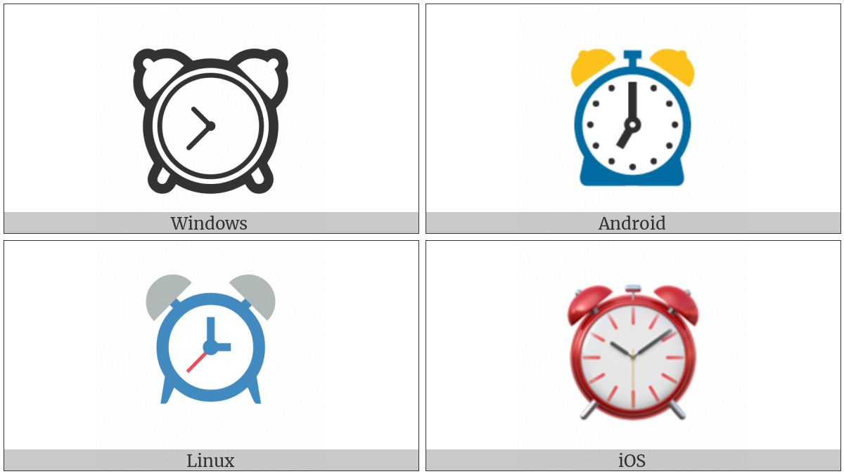 Alarm Clock on various operating systems