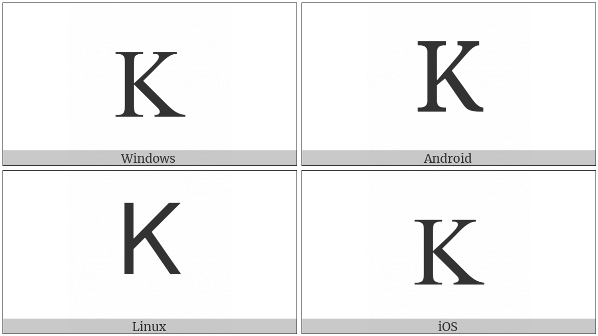 Greek Capital Letter Kappa on various operating systems