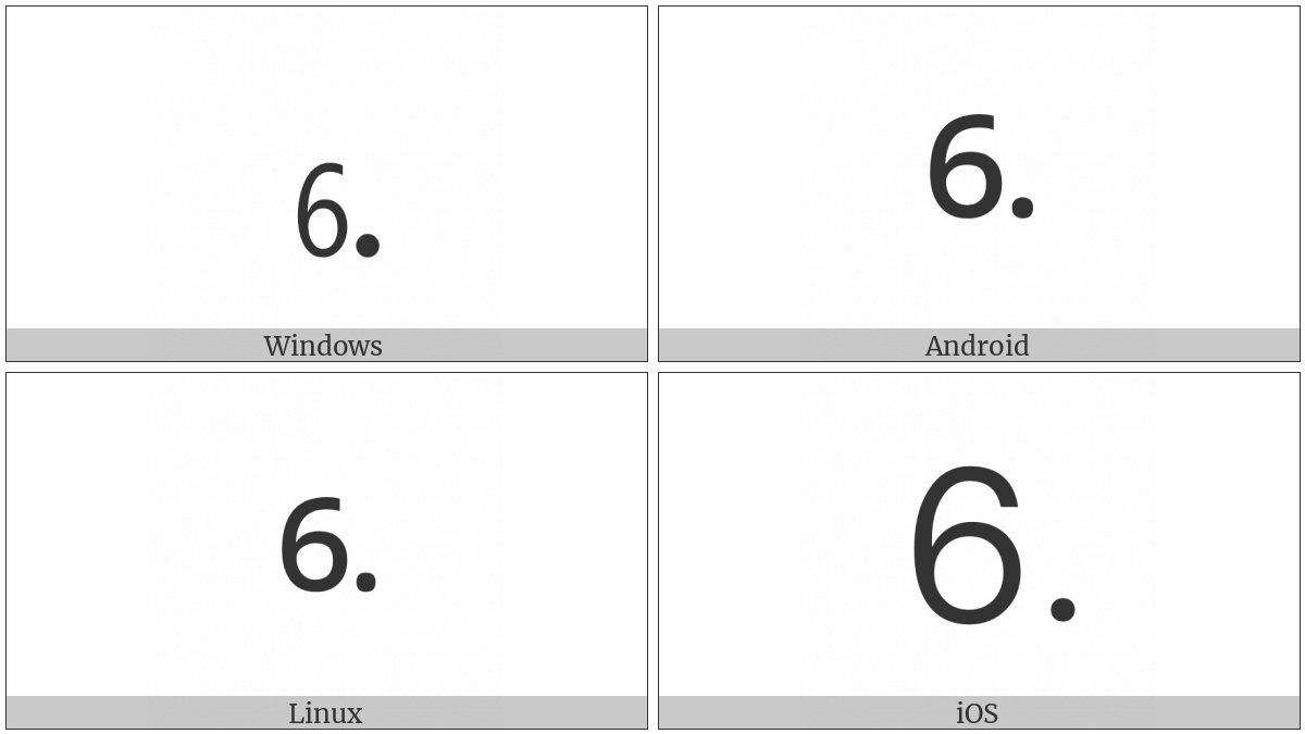 Digit Six Full Stop on various operating systems