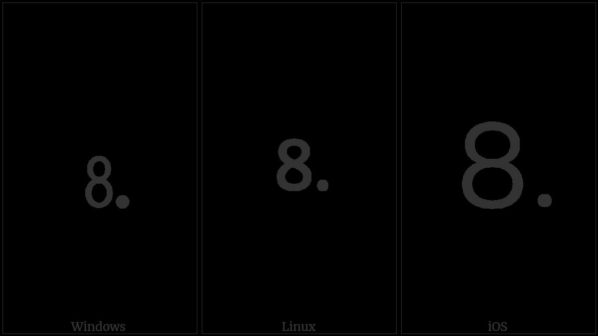 Digit Eight Full Stop Utf 8 Icons