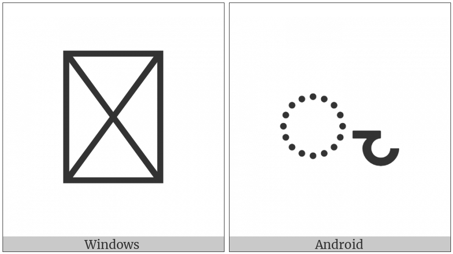 Miao Vowel Sign An on various operating systems