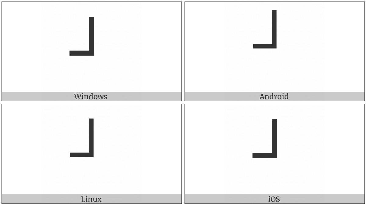 Box Drawings Light Up And Left on various operating systems
