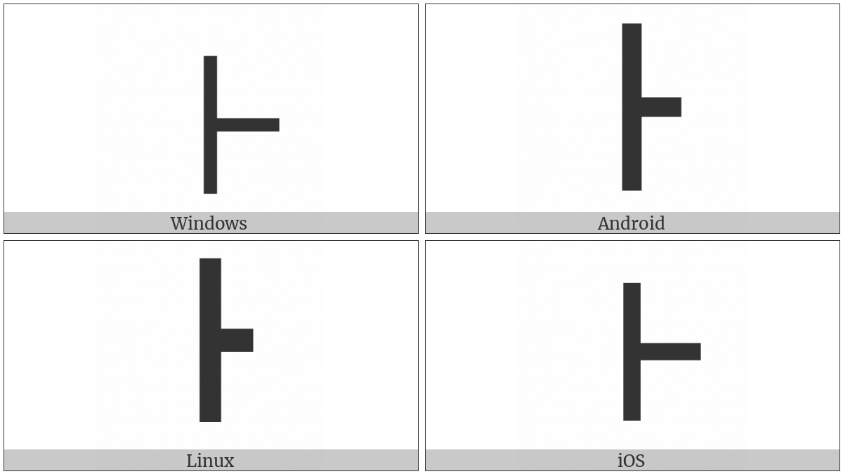 Box Drawings Heavy Vertical And Right on various operating systems