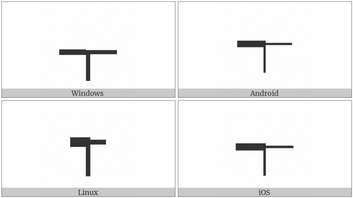 Box Drawings Left Heavy And Right Down Light on various operating systems