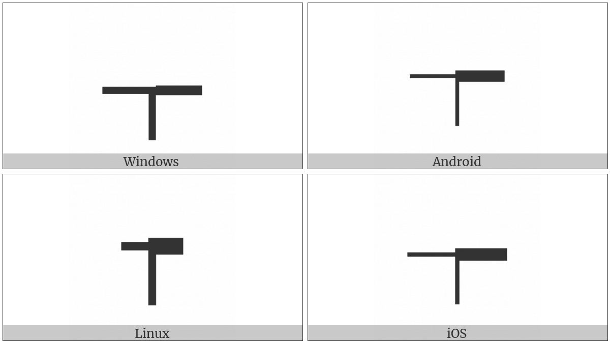 Box Drawings Right Heavy And Left Down Light on various operating systems