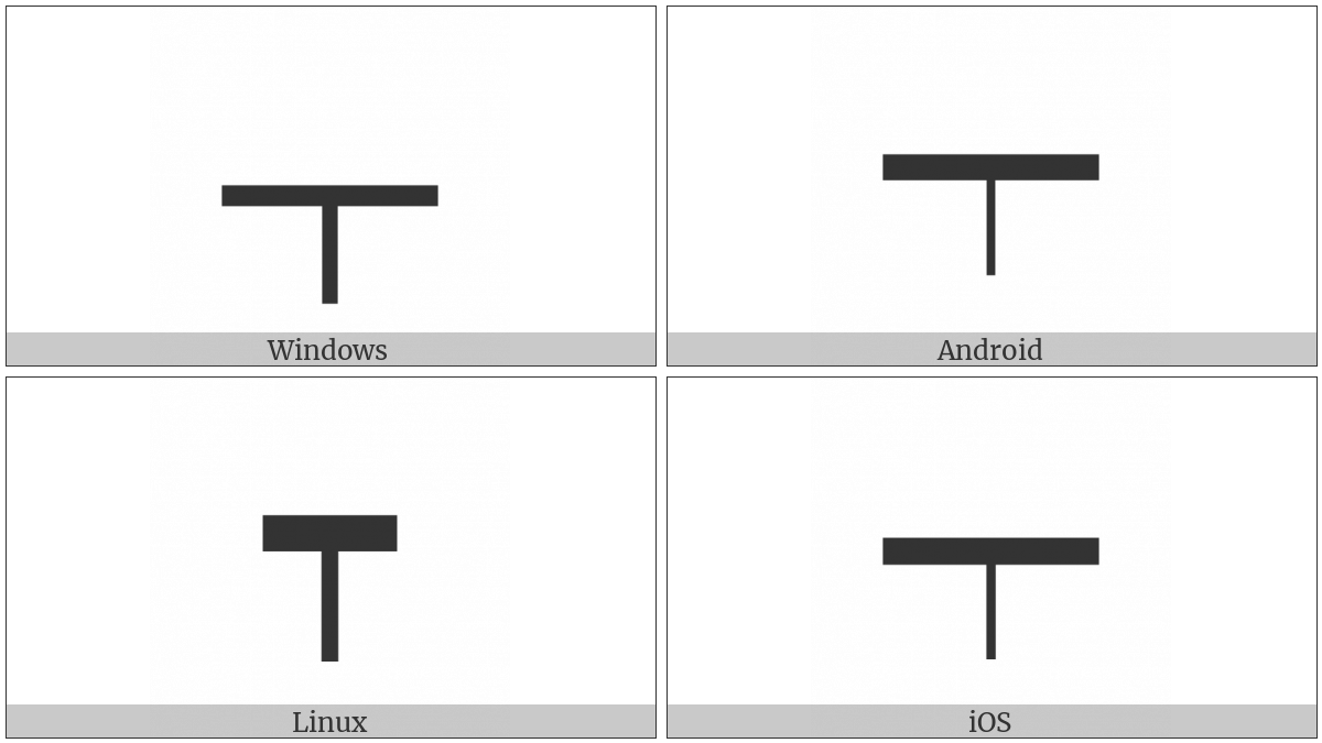 Box Drawings Down Light And Horizontal Heavy on various operating systems