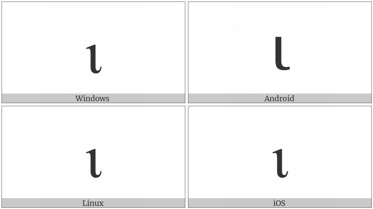 Greek Small Letter Iota on various operating systems