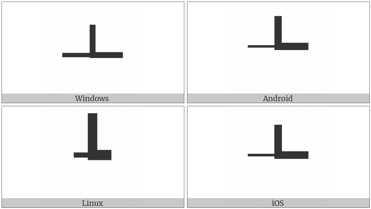 Box Drawings Left Light And Right Up Heavy on various operating systems