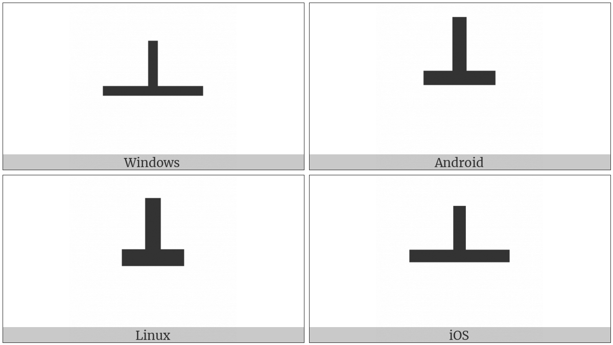 Box Drawings Heavy Up And Horizontal on various operating systems