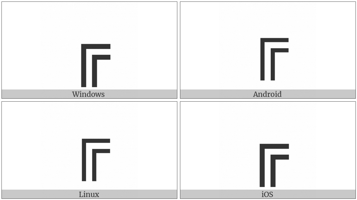 Box Drawings Double Down And Right on various operating systems