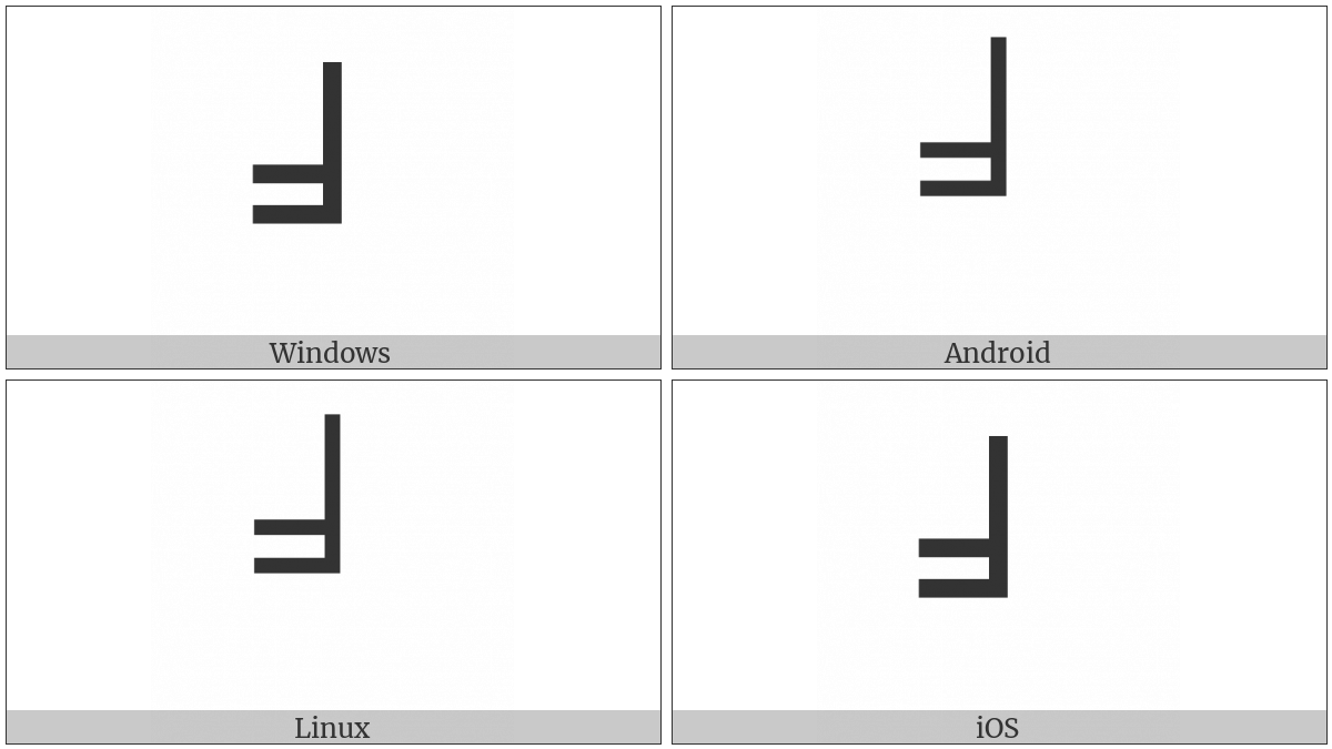 Box Drawings Up Single And Left Double on various operating systems