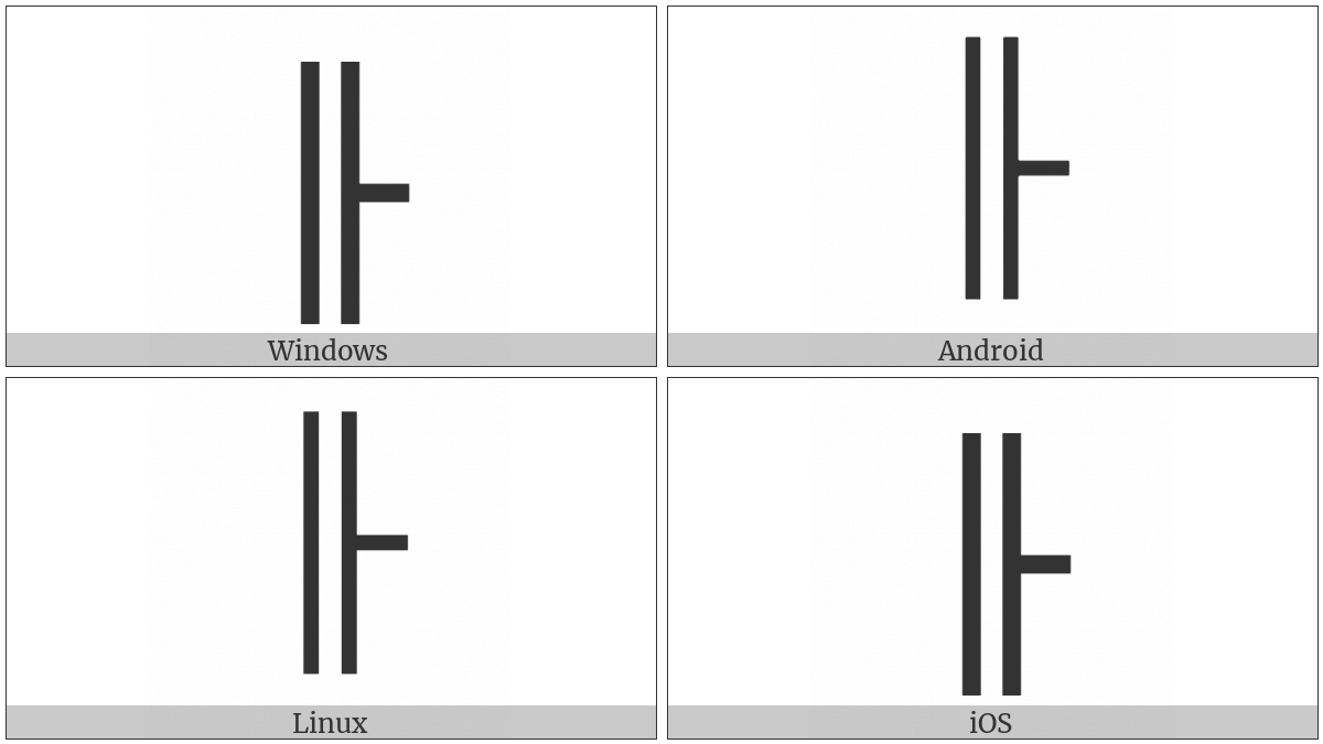 Box Drawings Vertical Double And Right Single on various operating systems