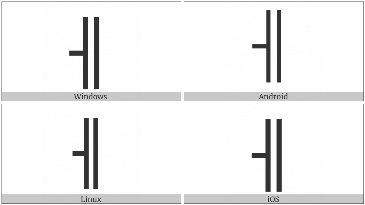 Box Drawings Vertical Double And Left Single on various operating systems