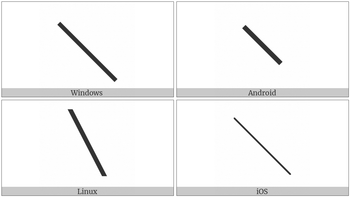 Box Drawings Light Diagonal Upper Left To Lower Right on various operating systems