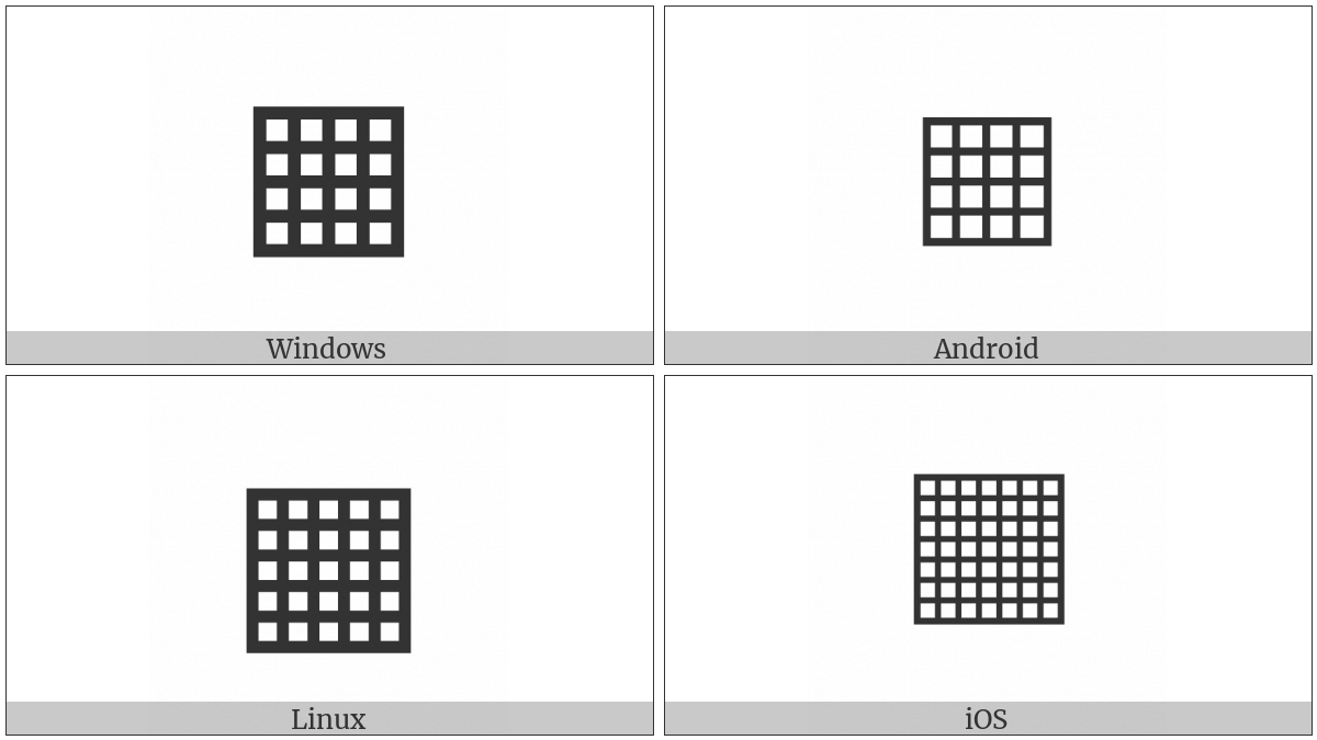 Square With Orthogonal Crosshatch Fill on various operating systems