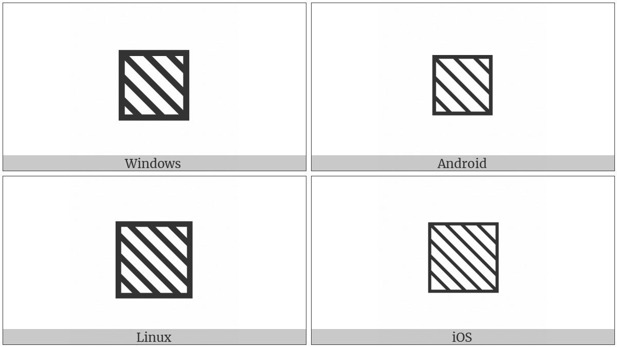 Square With Upper Left To Lower Right Fill on various operating systems