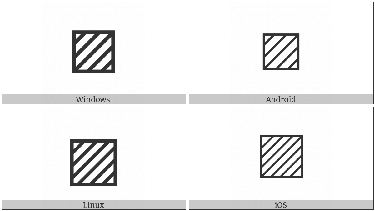 Square With Upper Right To Lower Left Fill on various operating systems