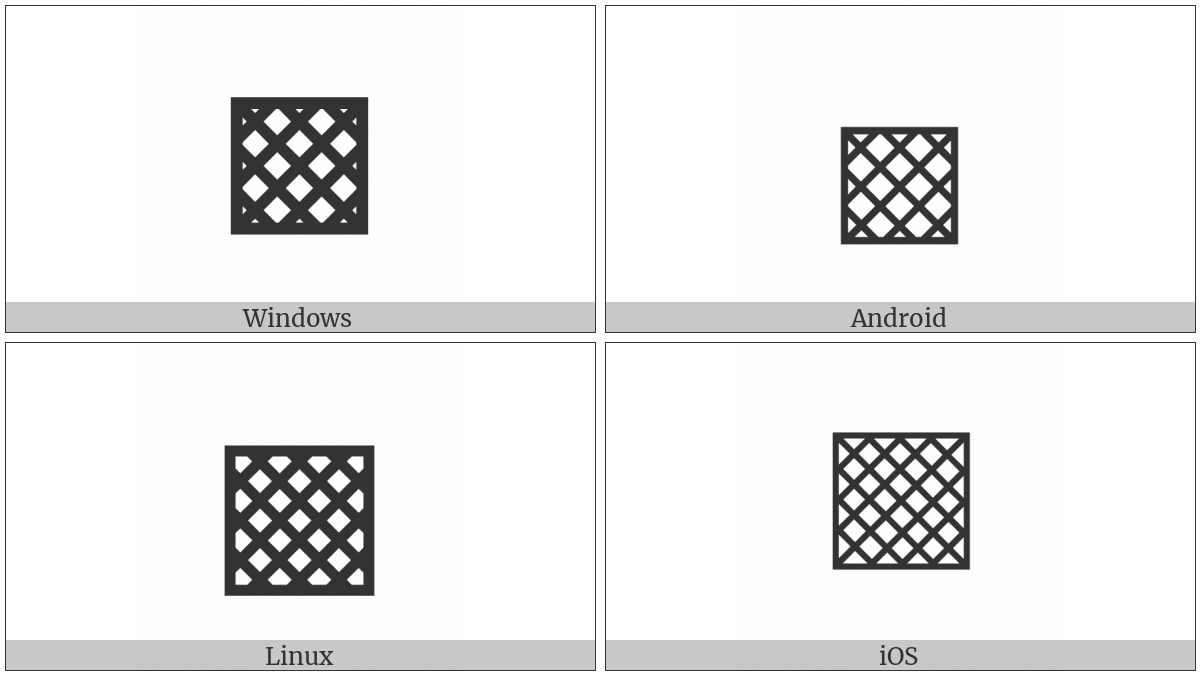 Square With Diagonal Crosshatch Fill on various operating systems