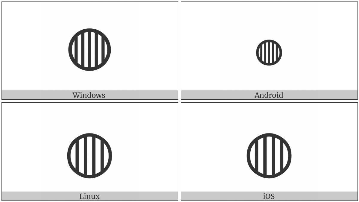 Circle With Vertical Fill on various operating systems