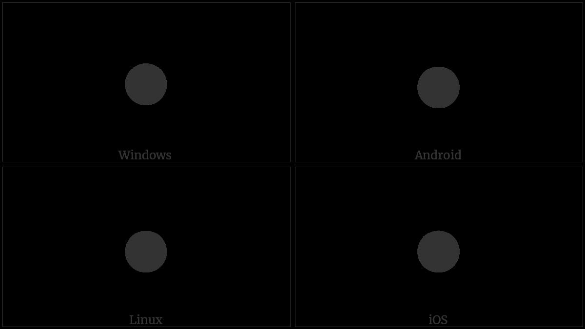 BLACK CIRCLE utf-8 character