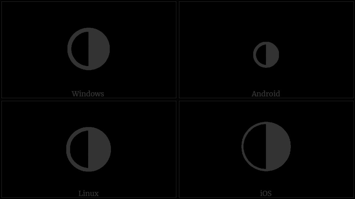 Symbols Half Circle Circle With Right Half Black