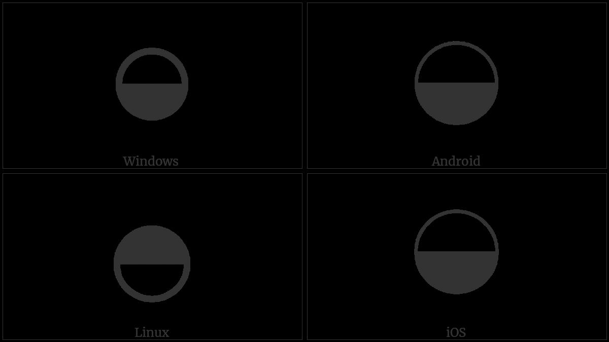 Circle With Lower Half Black Utf 8 Icons