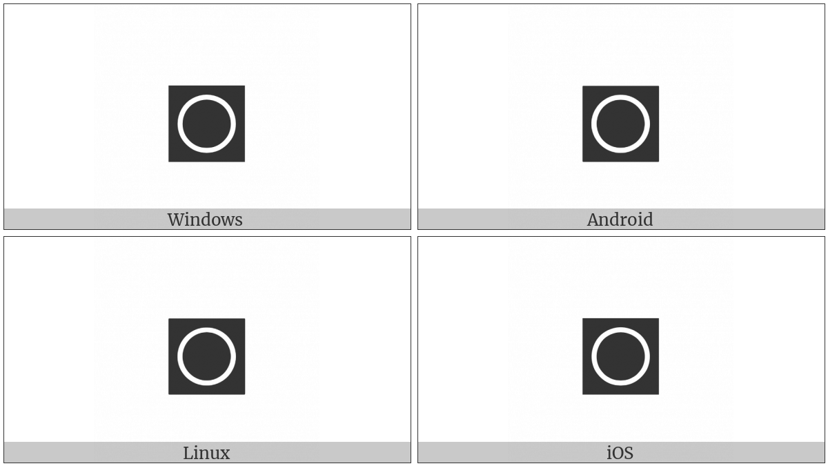 Inverse White Circle on various operating systems