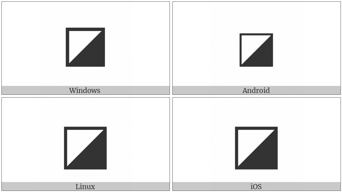 Square With Lower Right Diagonal Half Black on various operating systems