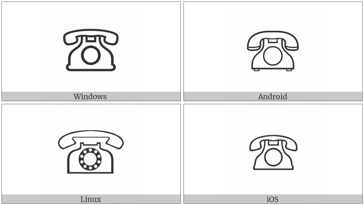 White Telephone on various operating systems