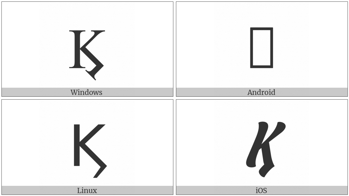 Greek Capital Kai Symbol on various operating systems