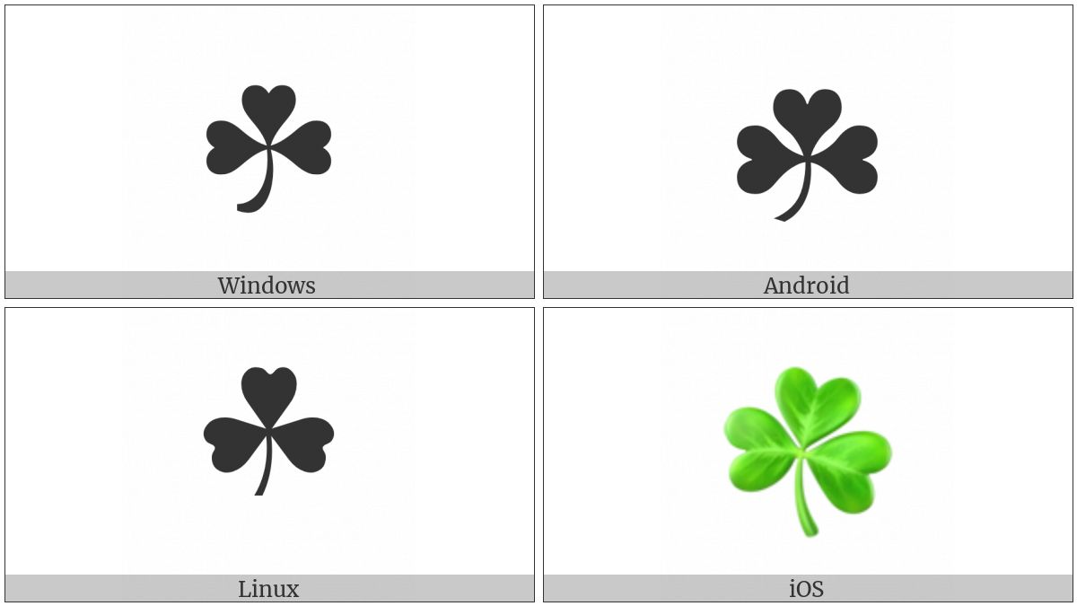 Shamrock on various operating systems