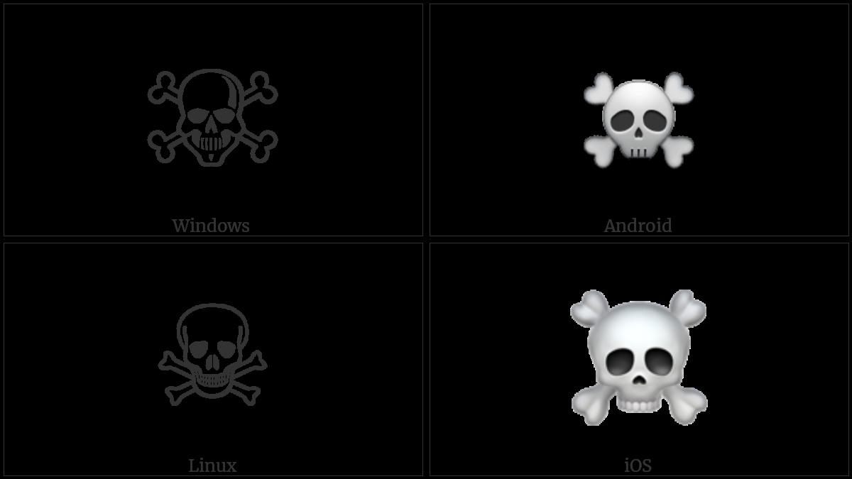 SKULL AND CROSSBONES utf-8 character