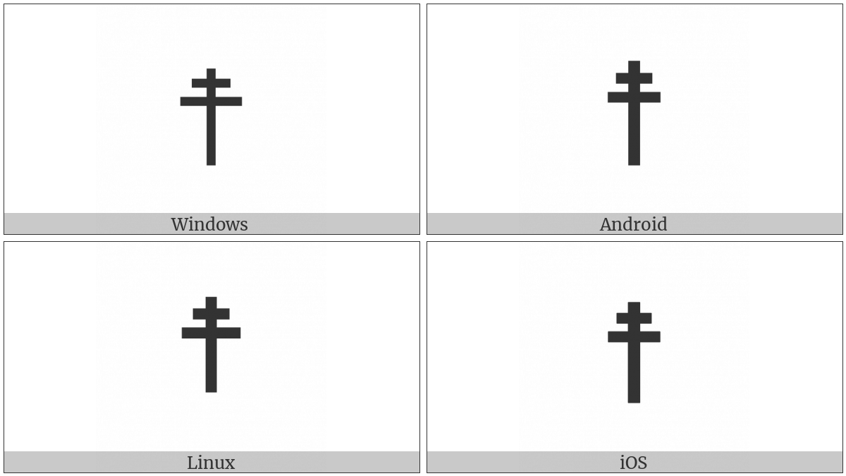 Cross Of Lorraine on various operating systems