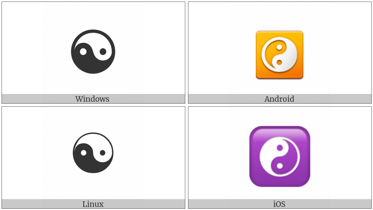 Yin Yang on various operating systems