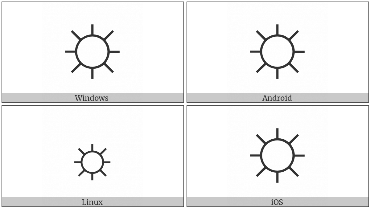 White Sun With Rays on various operating systems