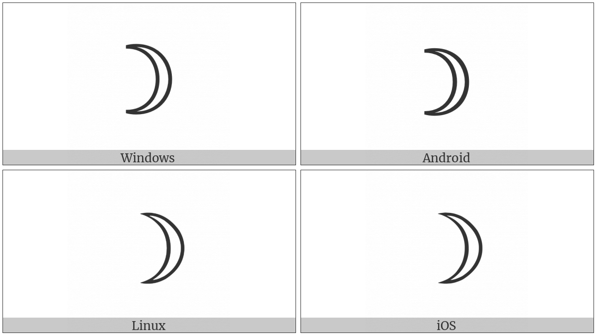 First Quarter Moon on various operating systems