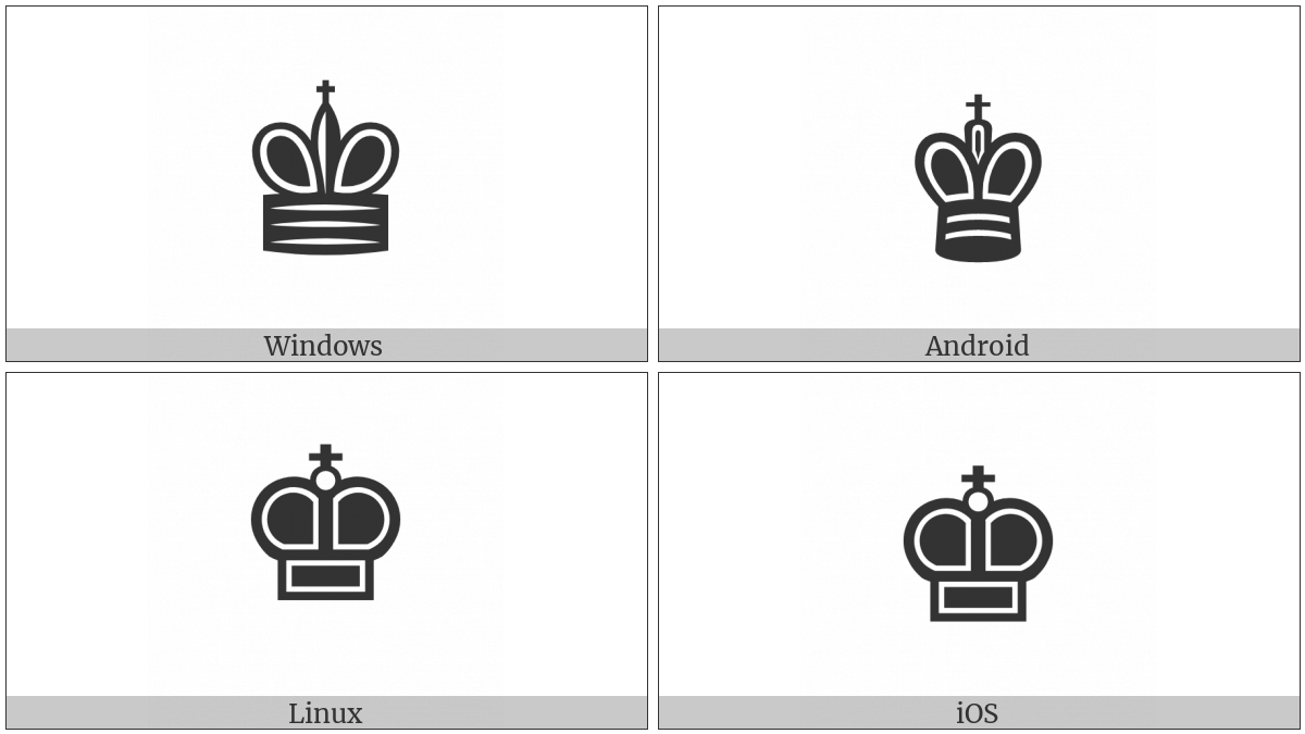 Black Chess King on various operating systems