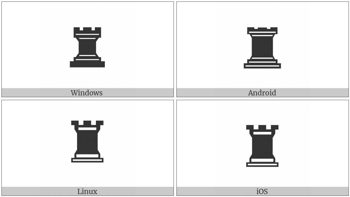Black Chess Rook on various operating systems